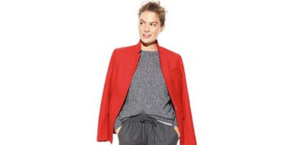 Clothing, Collar, Sleeve, Trousers, Textile, Standing, Coat, Formal wear, Style, Dress shirt,