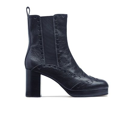 Boot, Leather, Black, Synthetic rubber, Fashion design,