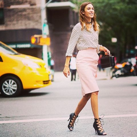 Clothing, Brown, Human leg, Outerwear, Bag, Street, Street fashion, Style, Fashion accessory, Knee,