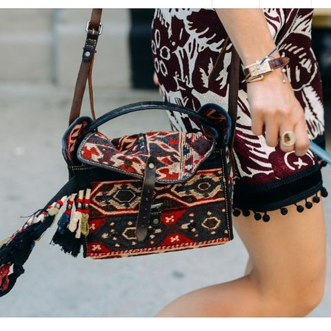 Bag, Pattern, Red, Fashion accessory, Style, Shoulder bag, Luggage and bags, Fashion, Design, Fashion design,