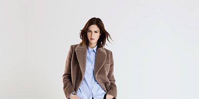 Clothing, Brown, Sleeve, Collar, Shoulder, Bag, Textile, Joint, Outerwear, Coat,