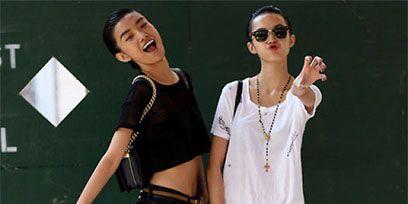 Arm, Hand, Sunglasses, Fashion accessory, Denim, Waist, Abdomen, Trunk, Animation, Gesture,