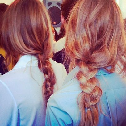 Hair, Hairstyle, Style, Orange, Red hair, Long hair, Brown hair, Beauty, Hair coloring, Blond,