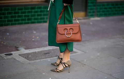 Green, Street fashion, Handbag, Bag, Fashion, Footwear, Yellow, Snapshot, Brown, Fashion accessory,