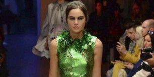 Clothing, Leg, Shoulder, Dress, Joint, Fashion show, Formal wear, Fashion model, Style, Fashion,