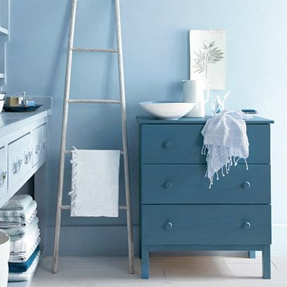 Blue, Wood, Room, Product, Drawer, Chest of drawers, Interior design, Wall, White, Furniture,