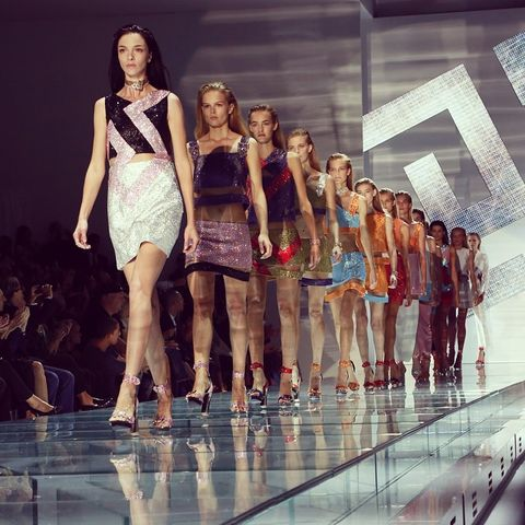 Fashion show, Runway, Fashion model, Waist, Fashion, Model, Public event, Fashion design, Competition, Haute couture,