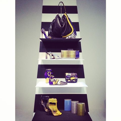 Shelf, Shelving, Purple, Bag, Violet, Shoulder bag, Luggage and bags, Guitar, Leather, Collection,