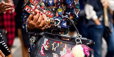 Jeans, Bag, Street fashion, Pattern, Fashion, Plaid, Tartan, Shopping,