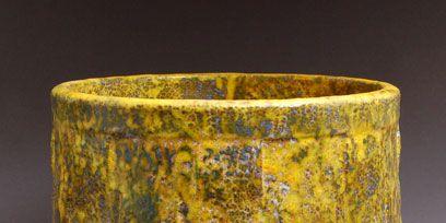 Yellow, Metal, Cylinder, Rectangle, Paint, Natural material, Still life photography, Tin,