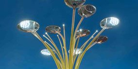 Nature, Blue, Lighting, Architecture, Public space, Street light, Landmark, City, Light, Urban area,