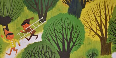 Organism, Leaf, People in nature, Art, Woody plant, Animation, Illustration, Painting, Drawing, Bird,
