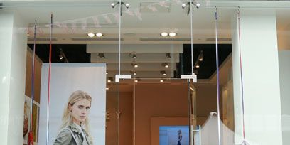 Ceiling, Light fixture, Ceiling fixture, Box, Plywood, Display window, Display case,