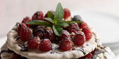 Food, Fruit, Produce, Dessert, White, Cuisine, Ingredient, Frutti di bosco, Berry, Dairy,
