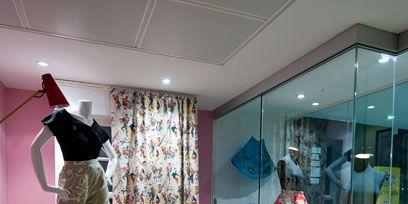 Interior design, Interior design, Display window, Display case, Retail, Home accessories, Sun hat,