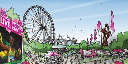 Magenta, Illustration, Ferris wheel, Amusement park, Amusement ride, Circle, Spoke, Graphics, Drawing, Painting,
