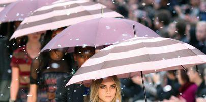 Human, Sleeve, Human body, Winter, Textile, Umbrella, Style, Street fashion, Dress, Fashion,