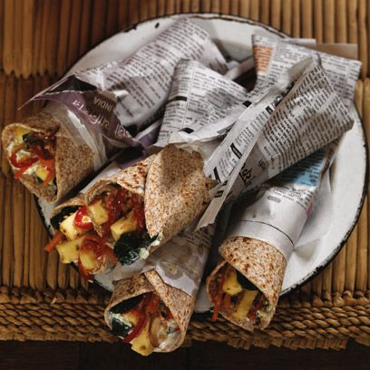 Gordon Ramsay's spicy vegetable and paneer wraps