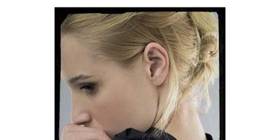 Ear, Cheek, Hairstyle, Earrings, Style, Eyelash, Blond, Long hair, Love, Brown hair,