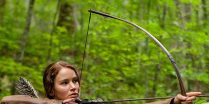 Bow and arrow, Bow, Arrow, Field archery, Archery, Target archery, Outdoor recreation, People in nature, Jacket, Individual sports,
