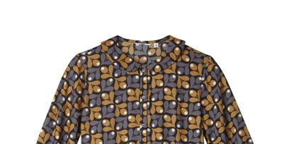 Blue, Product, Yellow, Sleeve, Textile, Pattern, Collar, Fashion, Electric blue, Design,