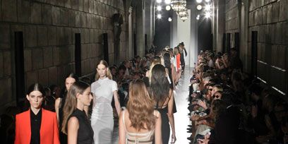 Clothing, Footwear, Leg, Dress, Outerwear, Human leg, Style, Fashion, Fashion model, Runway,