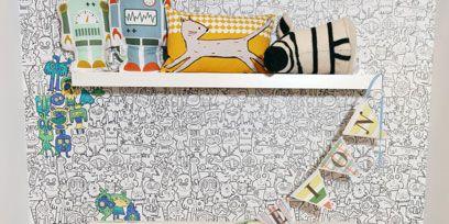 Blue, Textile, Interior design, Linens, Interior design, Bedding, Art, Aqua, Creative arts, Cushion,