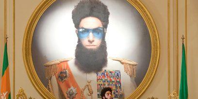 Head, Human, Facial hair, Flag, Beard, Moustache, Art, Picture frame, Temple, Artist,