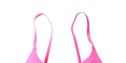 Brassiere, Magenta, Pink, Purple, Undergarment, Costume accessory, Lingerie top, Lingerie, Still life photography, Undergarment,
