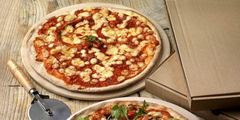 Food, Cuisine, Pizza, Ingredient, Dish, Baked goods, Plate, Recipe, Tableware, Vegetable,