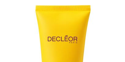 Yellow, Logo, Plastic, Packaging and labeling, Cylinder, Cosmetics,