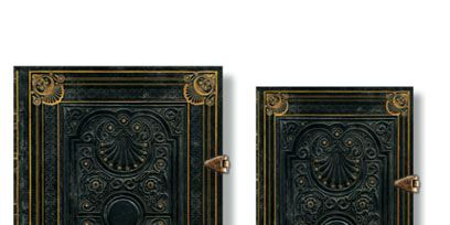 Rectangle, Teal, Metal, Brass, Antique, Book cover, Book, Collectable, Artifact, Square,