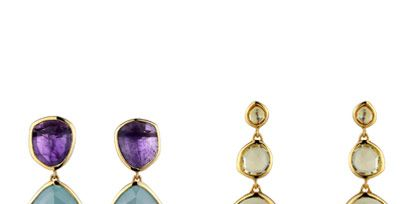 Jewellery, Earrings, Amber, Lavender, Purple, Violet, Natural material, Teal, Fashion, Magenta,