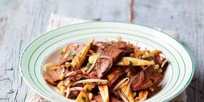 Food, Cuisine, Ingredient, Recipe, Meat, Dish, Pork, Fast food, Plate, Doily,