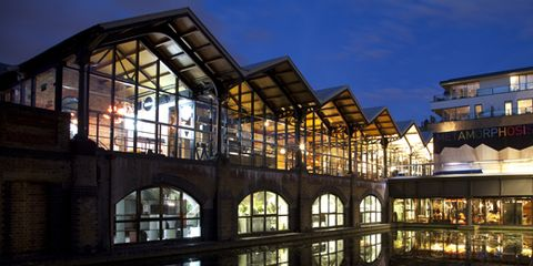 Architecture, Glass, Arch, Reflection, Evening, Daylighting, Hotel,