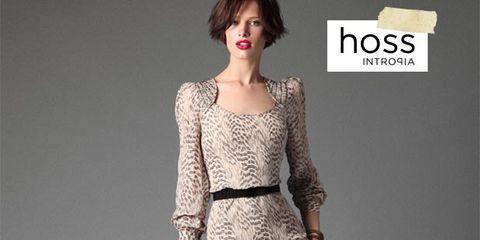Sleeve, Dress, Shoulder, Joint, Human leg, Standing, One-piece garment, Style, Fashion model, Pattern,