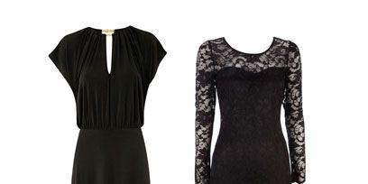 Dress, Sleeve, Textile, Formal wear, Pattern, Style, One-piece garment, Fashion, Neck, Black,