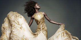 Fashion, Beige, Embellishment, Gown, One-piece garment, Jheri curl, Fashion model, Day dress, Fashion design, Costume design,