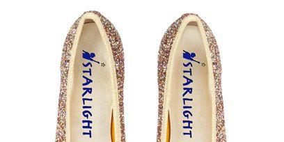 Product, Shoe, Font, Tan, Ballet flat, Beige, Silver, Oval,