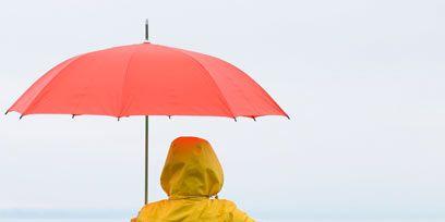 People in nature, Umbrella, Bench, Raincoat, Outdoor furniture, Street furniture, Outdoor bench, Rain suit, Rain,