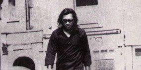 Shoulder, Standing, Photograph, White, Room, Black, Monochrome, Black hair, Black-and-white, Major appliance,