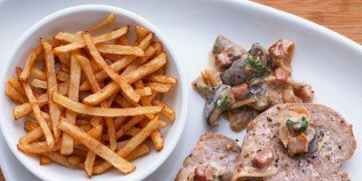 Food, Brown, Meat, Cuisine, Tableware, Ingredient, French fries, Fried food, Dishware, Dish,