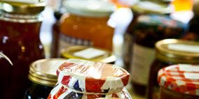 Preserved food, Mason jar, Food storage containers, Canning, Ingredient, Fluid, Food storage, Fruit preserve, Condiment, Pickling,