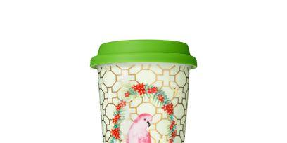 Drinkware, Peach, Bird, Lid, Cylinder, Food storage containers, Mason jar,