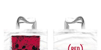 Product, Red, Bag, Logo, Carmine, Shopping bag, Material property, Label, Coquelicot, Fruit,
