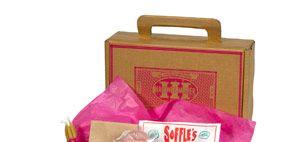 Magenta, Cuisine, Maroon, Snack, Convenience food, Finger food, Box, Label,