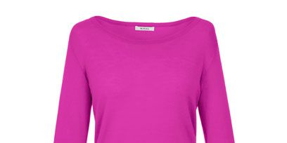 Product, Sleeve, Magenta, Textile, Purple, Violet, Pink, Sweater, Pattern, Neck,