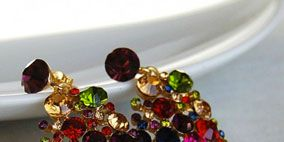 Purple, Magenta, Natural material, Violet, Pink, Amber, Fashion accessory, Lavender, Art, Body jewelry,