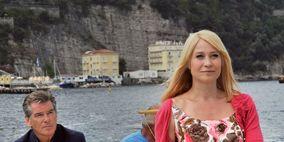 Tourism, Travel, Beauty, Sitting, Dress, Lake, Watercraft, Blond, Conversation, Channel,