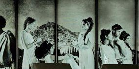 Head, Human, Photograph, Monochrome, Mammal, Monochrome photography, Style, Black-and-white, Black, Vintage clothing,